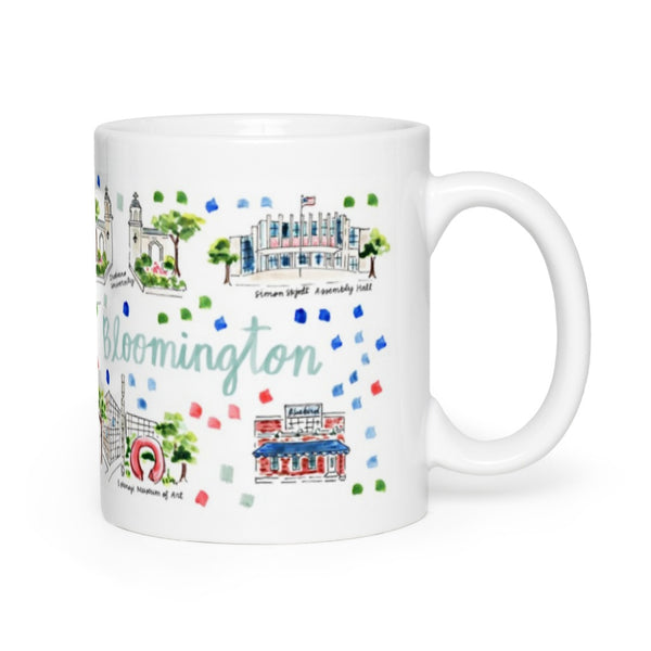 Bloomington, IN Map Mug