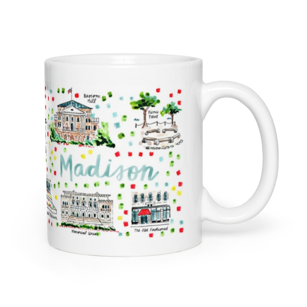 Madison, WI Map Mug