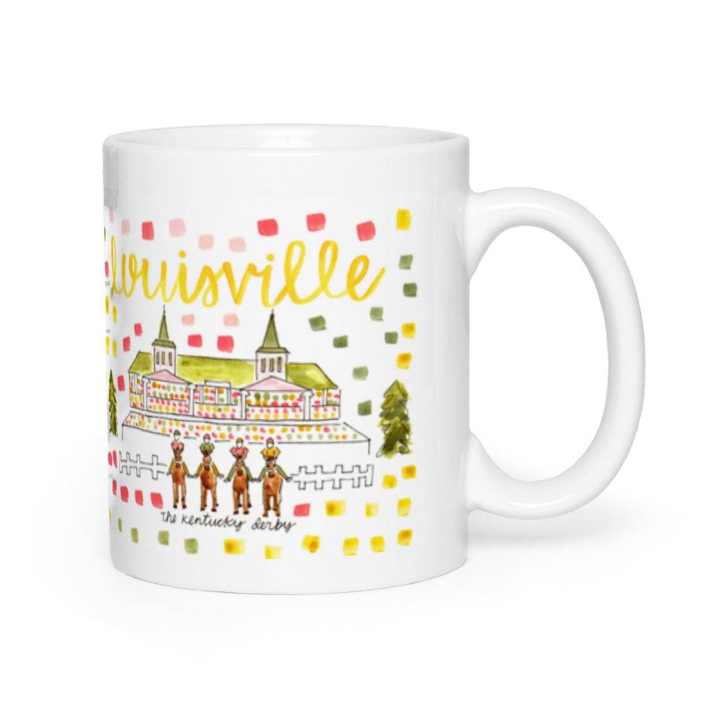 Louisville, KY Map Mug