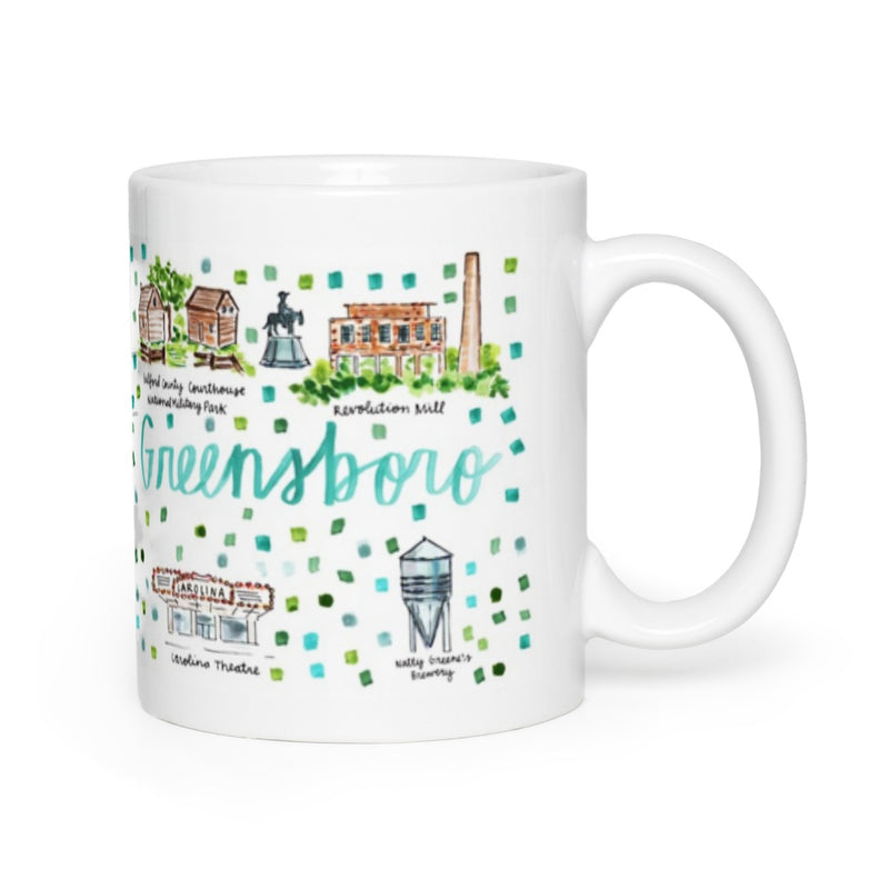 Greensboro, NC Map Mug