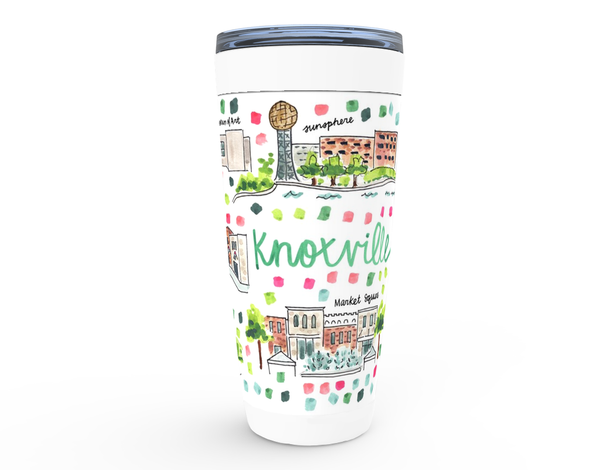 Knoxville, TN Map Tumbler