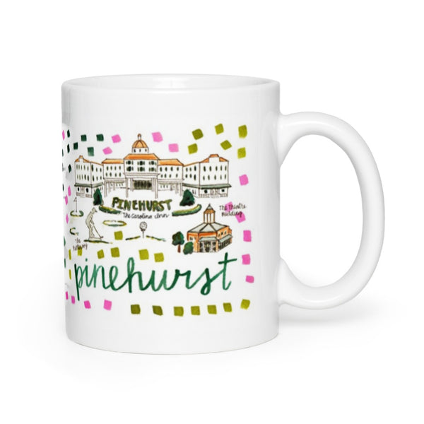 Pinehurst, NC Map Mug