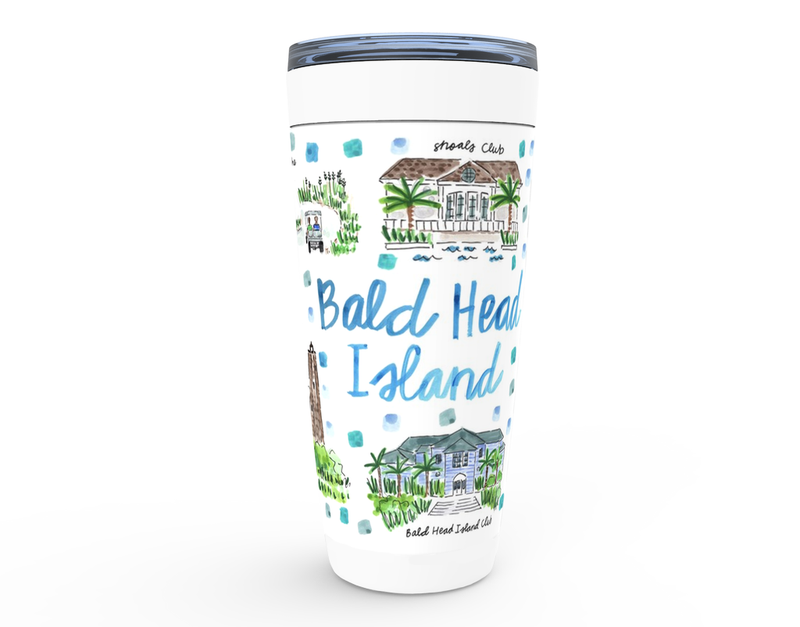 Bald Head Island, NC Map Tumbler