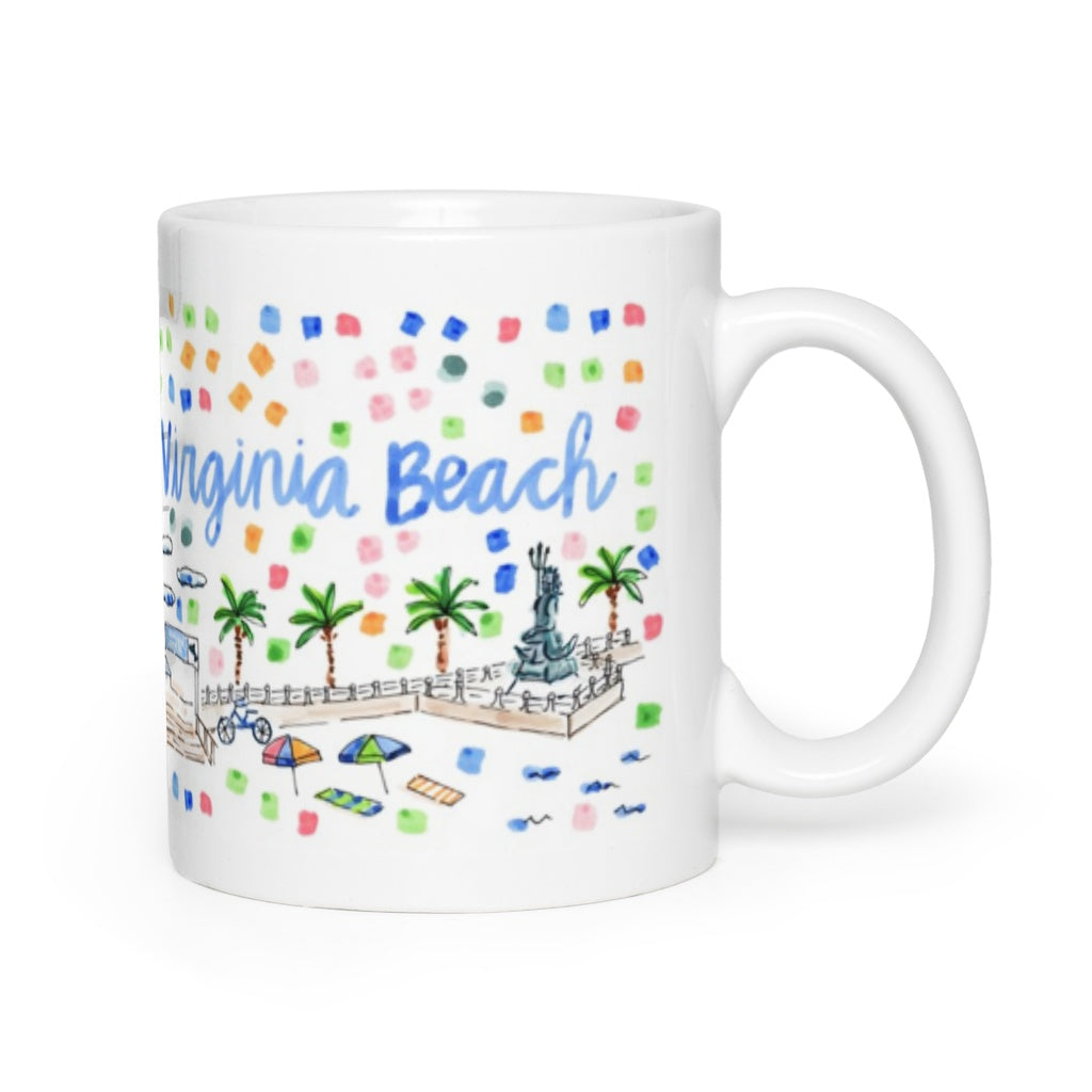 Virginia Beach, VA Map Mug