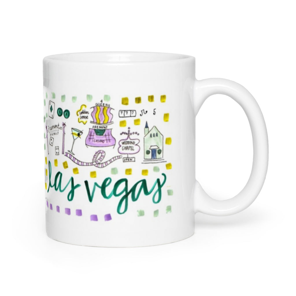 Las Vegas, NV Map Mug
