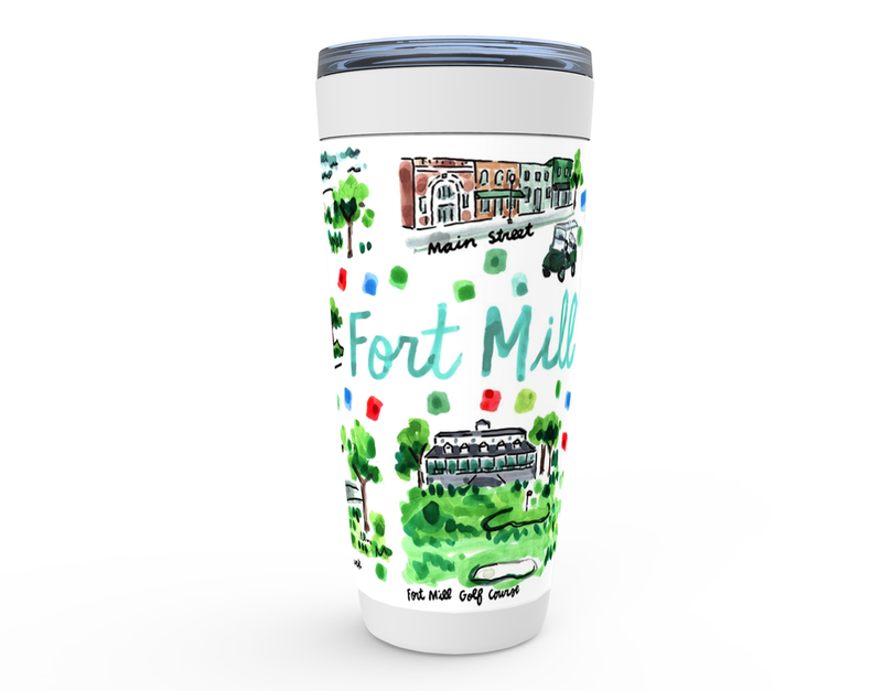 Fort Mill, SC Map Tumbler