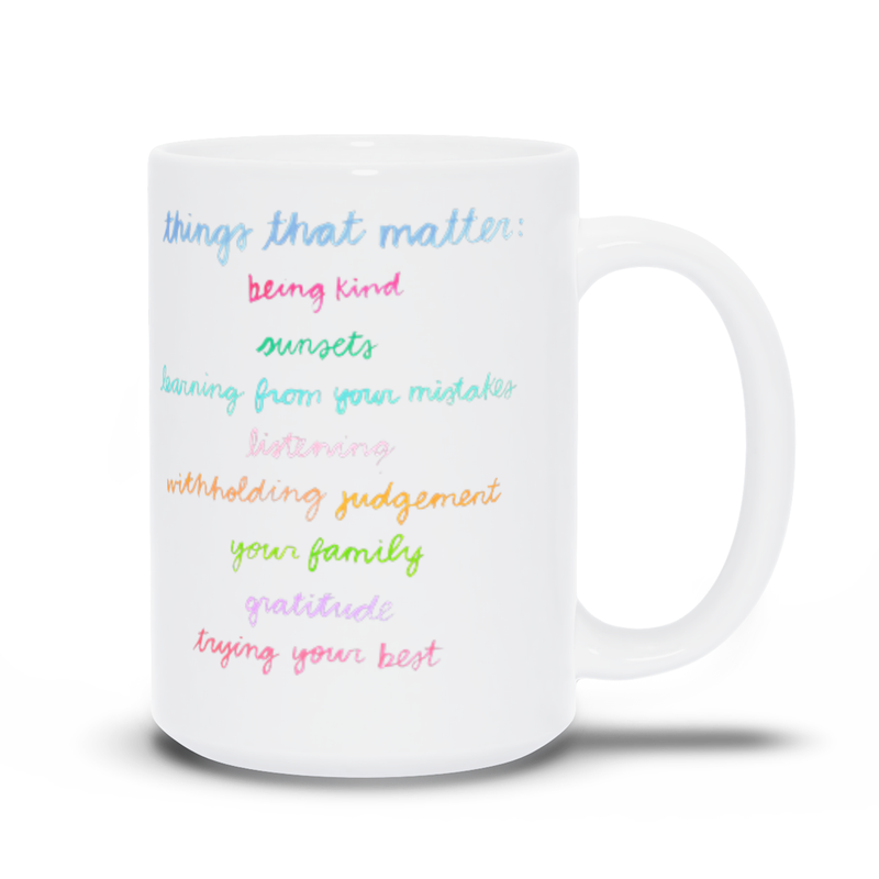 Things That Matter Mug