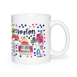 Boston, MA Map Mug