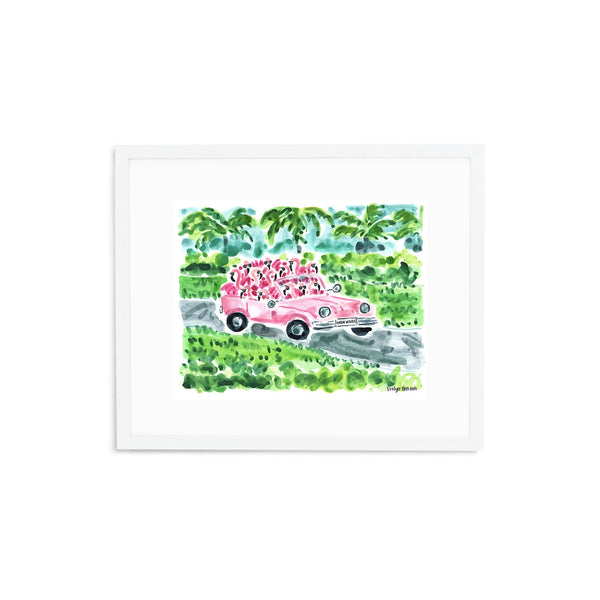 "The ""Flamingo to Palm Beach"" Fine Art Print"