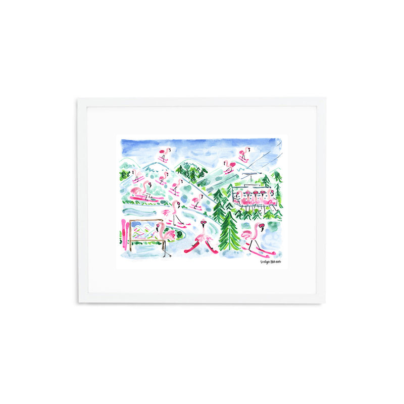 "The ""Flamingo to the Slopes"" Fine Art Print"