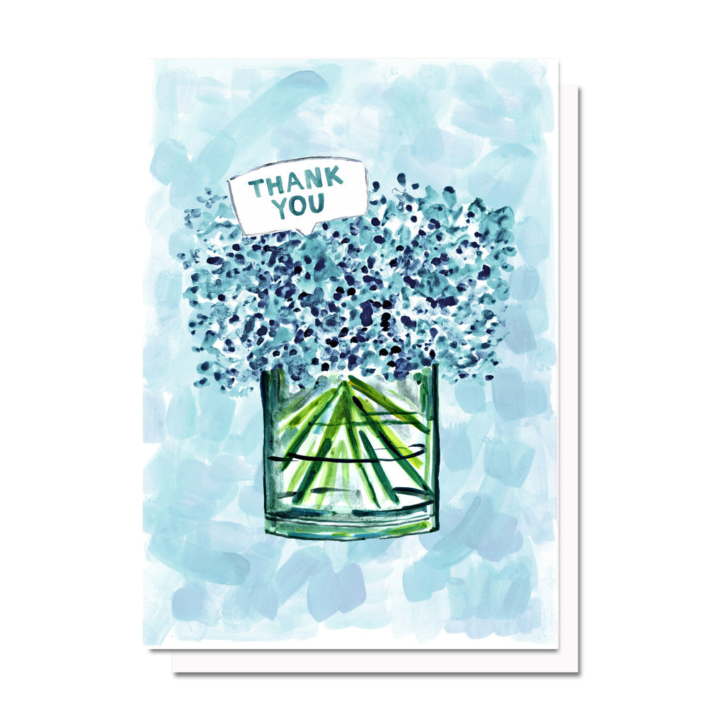 Thank You Hydrangeas (Blue) Card