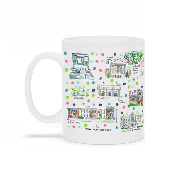 Washington DC Map Mug