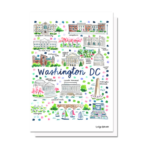 Washington DC Map Card