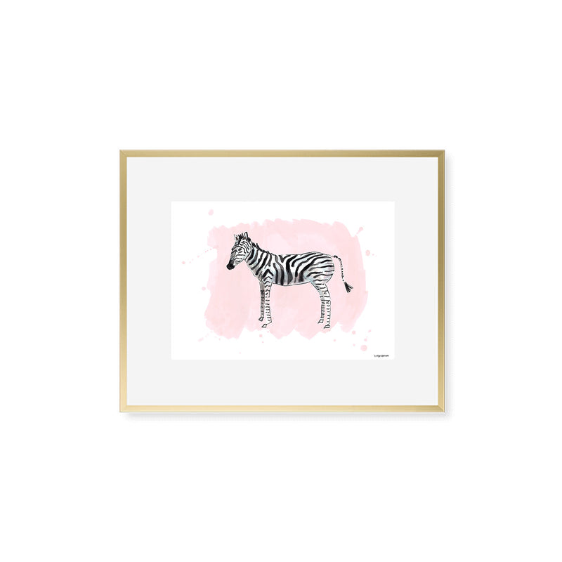 The Zebra, Fine Art Print (Additional Colors Available)