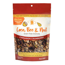 Load image into Gallery viewer, Coco, Bee & Nut: Grain Free Granola Cinnamon Cranberry