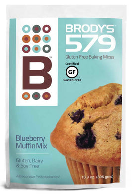 Brody's 579 Gluten Free Baking Mix, Blueberry Muffin Mix, GF