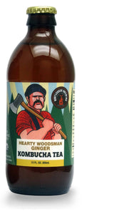 12 Pack Case- Hearty Woodsman Ginger Kombucha