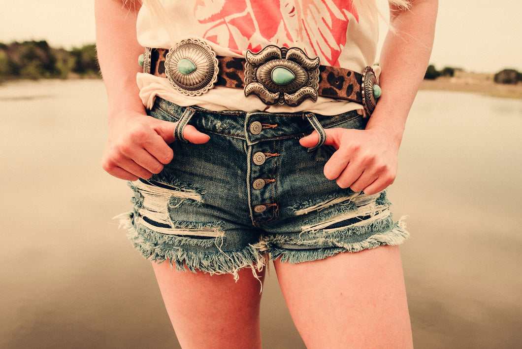 Buckle Bunny Distressed Cut-offs