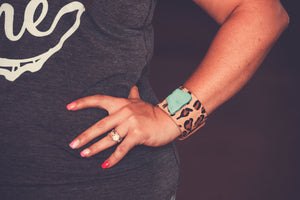 Turquoise Leopard Cuff
