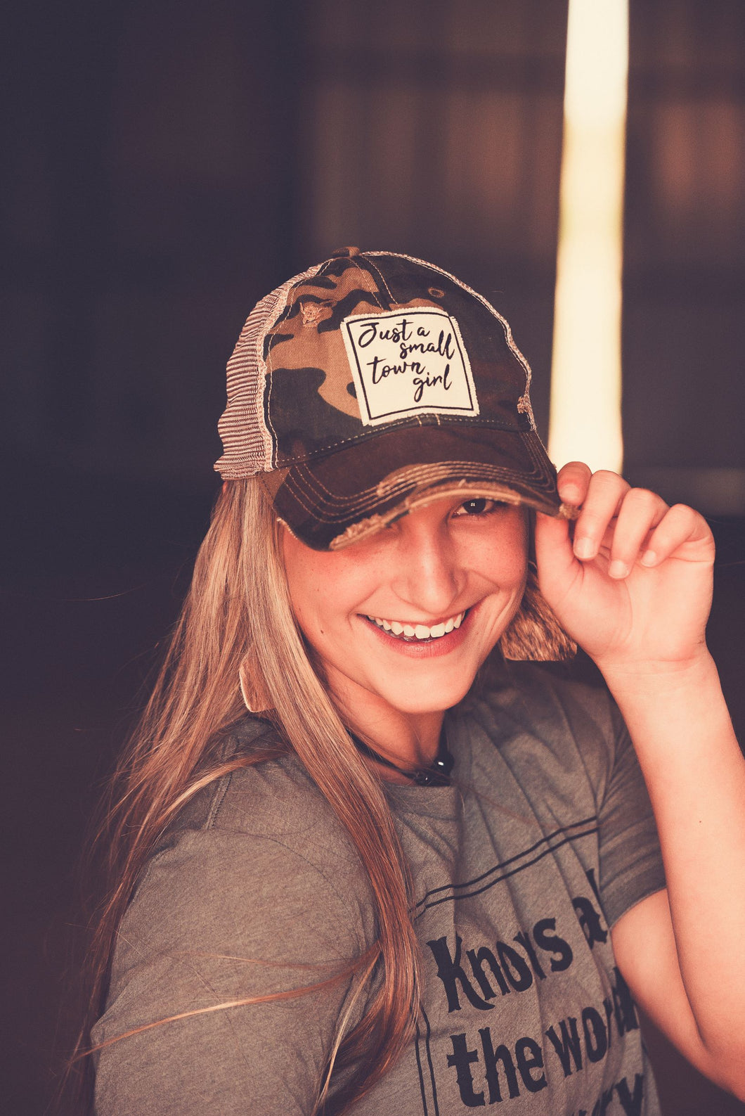 Just a Small Town Girl Cap
