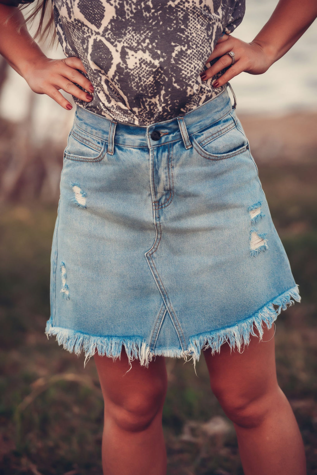 Summer Fest Denim Skirt