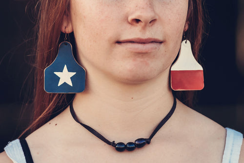Texas Flag Cowtags