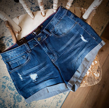 Load image into Gallery viewer, Lake Day Denim Shorts