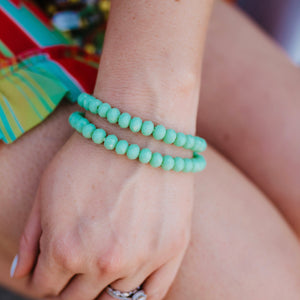 Sea Foam Stacker Bracelets