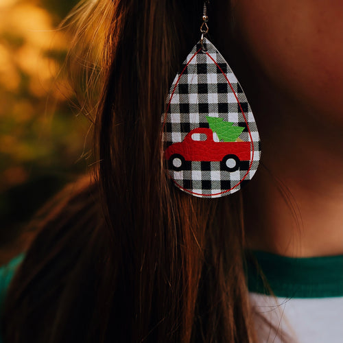 Country Christmas Earrings