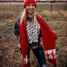 Load image into Gallery viewer, Candy Cactus Scarf & Beanie Set