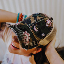 Load image into Gallery viewer, Floral Camo Pony Cap