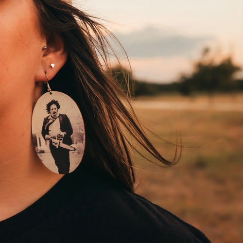 Leatherface Earrings