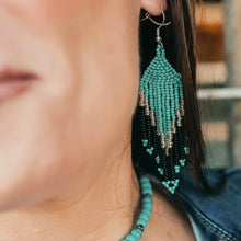 Load image into Gallery viewer, Turquoise Falls Earrings