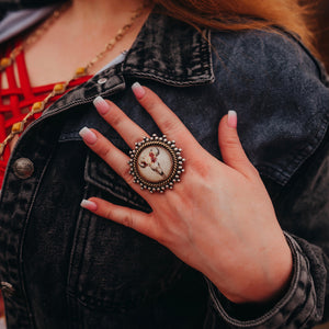 Boho Skull Bubble Ring