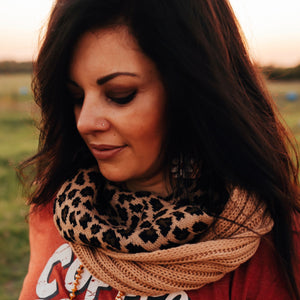 CC Leopard Infinity Scarves