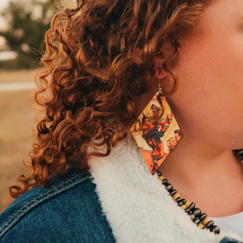 Bronc Rider Earrings