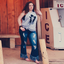 Load image into Gallery viewer, Front Porch Fringe Jeans