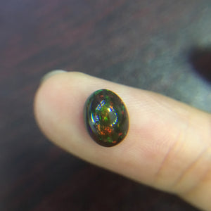 Opalo natural etiópeblack opal oval 7*9mm top quality
