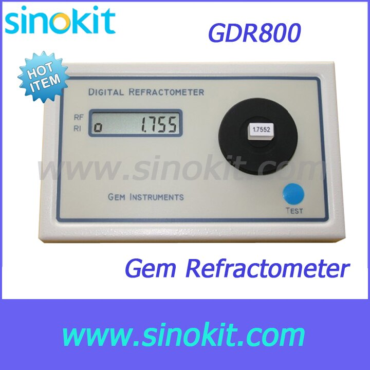 Free Shipping Professional Portable Gem gemological refractometer - GDR800