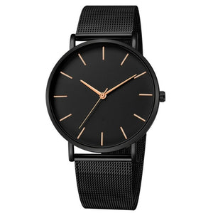 Simplicity Modern Quartz Watch Women Mesh Stainless Steel Bracelet High Quality Casual Wrist Watch for Woman Montre Femme D20