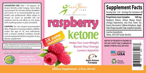 Raspberry Ketone Drops with 3x Rapid Release Formula - ONLY $29.95/bottle
