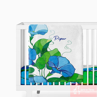 floral baby girl gifts personalized baby name bedding
