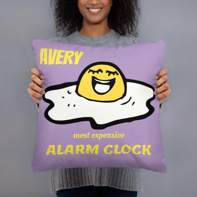pillows 4 colors- Laughing Egg Personalized Pillow Cover with Pillow Insert Sleep is Overrated - ZERO TO THREE CLUB pillows