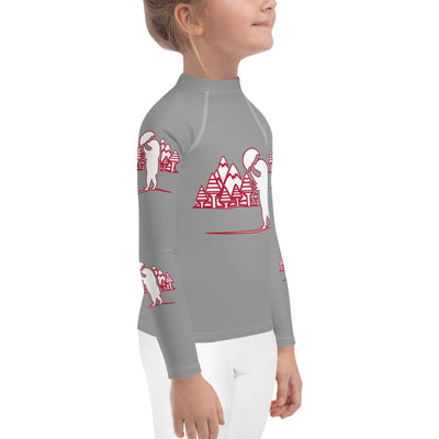 Bear Lodge on Grey Long Sleeves Top - Mix and Match with Leggings - ZERO TO THREE CLUB