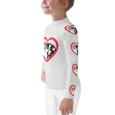 BFF on White Long Sleeve Top Rash Guard - Mix and Match with Leggings - ZERO TO THREE CLUB