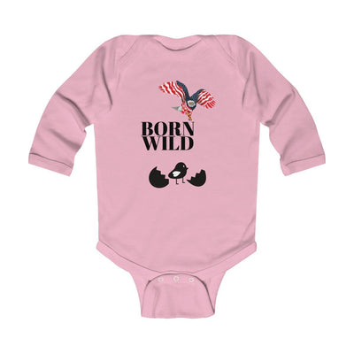 "Kids clothes ""Born Wild"" Infant Long Sleeve Bodysuit - ZERO TO THREE CLUB Kids clothes"