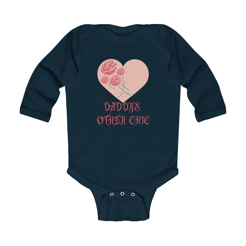 "Kids clothes ""Daddy's Other Chic"" Infant Long Sleeve Bodysuit - ZERO TO THREE CLUB Kids clothes"