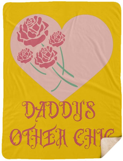 "Blankets ""Daddy's Other Chic"" Sherpa Blanket - 10 colors - ZERO TO THREE CLUB Blankets"
