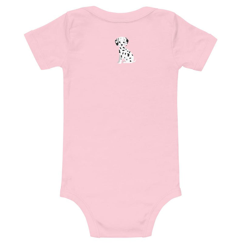 Dalmatian Short Sleeve Onesie - 100% Softest Cotton: Girls - ZERO TO THREE CLUB