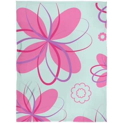 Blankets Floral Teal Premium Arctic Fleece Blanket - ZERO TO THREE CLUB Blankets